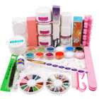 Acrylic Powder&Liquid UV Gel Nail Art Set 12 Glitter Powder Nail Glue Manicure