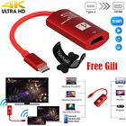 USB-C Type-C to HDMI HDTV Adapter 4K*2K UHD for Samsung Galaxy S9 S8+ Note 8 Red