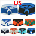 Mens Sexy Backless Jockstrap Buckled Boxer Shorts Pouch Underwear Gay Underpants
