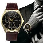 Hot Brand Mens Watches Luxury Quartz Business Casual Watch Retro Design Leather  image