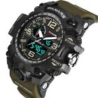 Mens Tactical Sport Army Military Digital Dual Time Alarm Waterproof Wrist Watch image