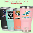 NFL yeti cup decal sticker for YETI Rambler Tumbler Cup glass PLASTIC mug jar $3.5 USD on eBay
