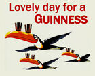 Lovely Day for a Guinness Irish Ireland Beer Toucan Fly Vintage Poster FREE S/H