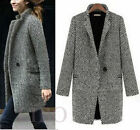 Parka Jacket Overcoat Outwear Women Slim Winter Warm Wool Lapel Long Coat Trench