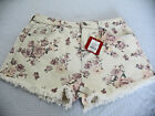 Women's Floral High Rise Ivory Jean Shorts - Various Sizes - Mossimo Supply Co.