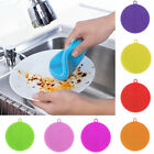 Silicone Dish Wash Cleaning Brush Sponge Kitchen Cleaner Pad Scrubber Tools