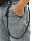 Mens Hip-hop Biker Trucker Punk Leather Chain Keychain Jean Wallet Chain 25''