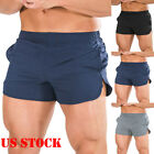 Mens Sports Running Bodybuilding Beach Breathable Shorts Fitness Gym Short Pants