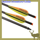 "Crossbow Bolts 20"" Carbon Arrows Hunting w/ Easton Vanes 1 degree Right Rotated"