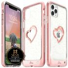 For iPhone XR XS Max Vena【vLove♡Bling】Glitter Hybrid Bumper Girl Cute Case Cover