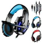 KOTION EACH G9000 LED Lights Pro Gaming Headset Mic Headphone for PC Phone US