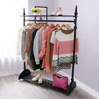 Stylish Heavy Duty Garment Clothes Rail Metal Garment Hanging Display Stand Rack