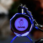 Laser Crystal Car Logo Key Chain Laser Engraved Glass Key Ring With Gift Box