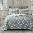 Meridian Oversized Reversible Print Wrinkle Free Coverlet Set image