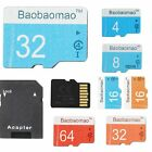 LOT Micro SD Card 4 8 16 32 64GB TF Flash Memory Card Adapter Camera Phone PP