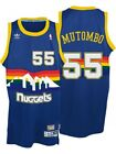 Dikembe Mutombo #55 Denver Nuggets Men's Blue Hardwood Classics Throwback Jersey on eBay