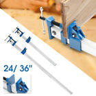 4PCS 24/36'' Quick Release F-Clamp Bar Clamp Woodworking Wood Clamping Carpenter