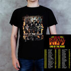 KISS 'End of the Road' 2019 World Tour Black Cotton T-shirt 2 Side Size S-5XL image
