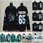 San Jose Sharks Jersey Hockey 8 Pavelski 65 Karlsson 19 Thornton 88 Burns 9 Kane