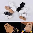50Pcs Jewelry Necklace Bracelet Hang Holder Tag Jewelry Display Paper Ca WD