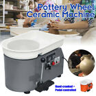 350W 110V Electric Pottery Wheel Ceramic Machine Foot Pedal + Hand Control Clay  image