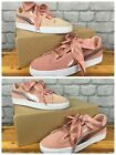 PUMA LADIES CLASSIC PINK METALLIC SUEDE HEART II TRAINERS VARIOUS SIZES REDYE