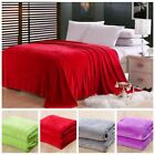 New Soft Solid Warm Micro Plush Flannel Fleece Blanket Throw Rug Sofa Bedding image
