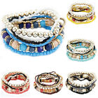 7pcs/1 Set Stylish Womens Boho Multilayer Acrylic Beads Beach Bracelets Grand