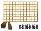 6 ft Heavy duty treated garden square trellis with posts various heights