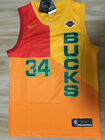 MilwaukeeBucks 34 Giannis Antetokounmpo Mens Jersey Black Green Yellow