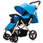 Two-way Baby Stroller Foldable Carriage Infant Cart Sitting & Lying