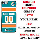 MIAMI DOLPHINS FOOTBALL PHONE CASE COVER NAME& # FITS iPHONE SAMSUNG HTCetc $26.98 USD on eBay