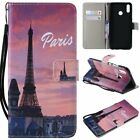 Eiffel Tower PU Leather Wallet Case Flip Cover Stand Card Slot For All Phones LG