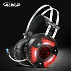 ALWUP A6 Gaming Headphones for Computer PC Games Wired Earphone Led HD Bass USB