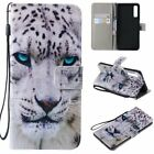 White Tiger PU Leather Wallet Case Flip Cover Stand Card Slot For All Phones LG