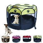 Pet Dog Cat Playpen Tent Portable Exercise Fence Kennel Cage Soft Crate House US