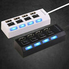 4/7Port USB Hub Switch Splitter Cable Lead For PS3 Xbox Wii PC MAC Laptop Tablet