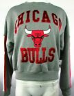 Chicago Bulls Over-sized Cropped Gray & Red Sweatshirt Touch by A.M. NBA Women M on eBay