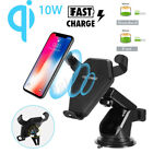 2019 Qi Wireless Charger Car Charging Phone Mount Holder For iPhone Xs Samsung