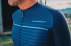 2019 Suarez Men's Poise Short Sleeve Cycling Jersey in Navy Blue