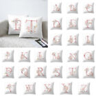 "18"" Letter Pink Floral Printing Pillow Case Throw Cushion Cover Sofa Home Decor"