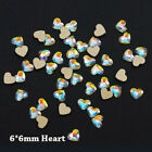 Wholesale 20x 3D Nail Art Rhinestones Flat Shaped Elongated Glass Colorful Stone
