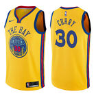 Stephen Curry #30 Golden State Warriors Men's Gold The Bay City Edition Jersey on eBay