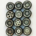 1/64 Scale Alloy Wheels - Custom Hot Wheels for Matchbox Tomy Rubber Tires