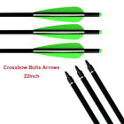 Aluminum Crossbow Bolt 22'Crossbolt Arrows Fletched 4 Inch Vane with Field Point