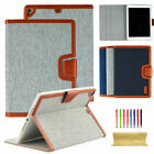 Canvas Smart Leather Case Cover For iPad Pro 12.9 10.5/Mini/Air 2/5 6th Gen 9.7