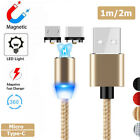 1M 2M Strong 360° Magnetic Cable LED Mico USB Type C Connector Charging Charger