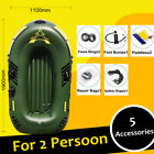 7 In 1 Inflatable Boat Set 3 Person Oars Pump Fishing Raft PVC US Ship with Pump