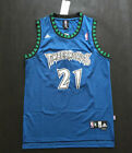 NEW Minnesota Timberwolves #21 Kevin Garnett Basketball Jersey Blue Size:S-XXL on eBay