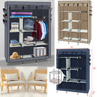 Triple Double Canvas Folding Assembly Closet Wardrobe Cupboard Hanging Storage